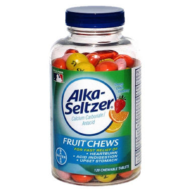 Alka-Seltzer Fruit Chews - 120 Tablets