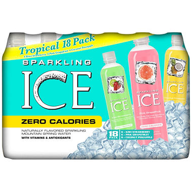 TalkingRain Sparkling ICE Tropical Pack (17 oz. bottles - 18 ct.)