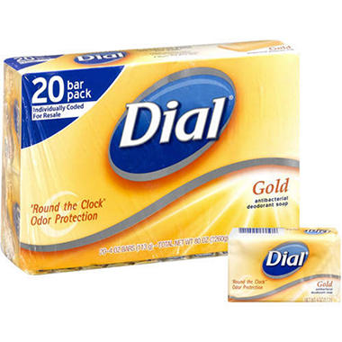 Dial Antibacterial Deodorant Soap, Gold - 4 oz. - 20 ct.