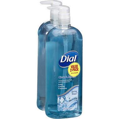 Dial Anti-bacterial Body Wash, Spring Water - 35 fl oz. - 2 pk.