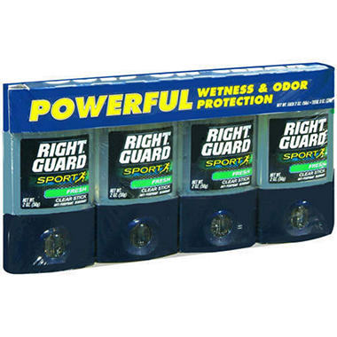 Right Guard Sport Fresh - 2 oz. sticks - 4 pk.