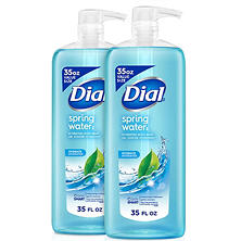Dial Antibacterial Body Wash, Spring Water (35 fl. oz., 2 pk.)