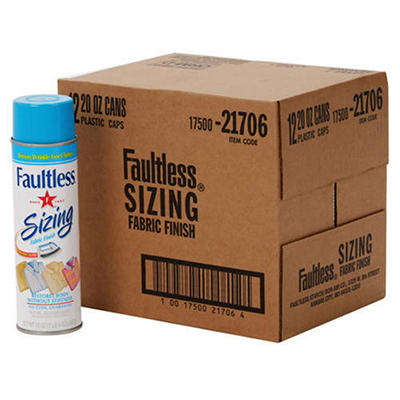 Faultless® Sizing Fabric Finish - 12/20 oz. cans