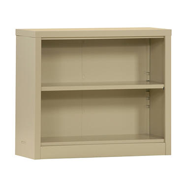 "Sandusky Quick Assembly Steel Bookcase - Putty - 34.5""W x 13""D x 30""H"
