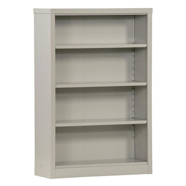 "Sandusky Quick Assembly Steel Bookcase - Dove Gray - 34.5""W x 13""D x 52""H"