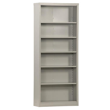 "Sandusky Quick Assembly Steel Bookcase - Dove Gray - 34.5""W x 13""D x 84""H"