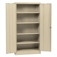 "Sandusky Quick Assembly Steel Storage Cabinet - Putty -  36""W x 18""D x 72""H"