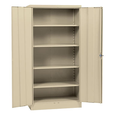Sandusky Quick Assembly Steel Storage Cabinet Putty 36 W X 18 D X 72 H Sam 39 S Club