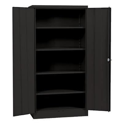 "Sandusky Black Quick Assembly Steel Storage Cabinet - 36""W x 18""D x 72""H"