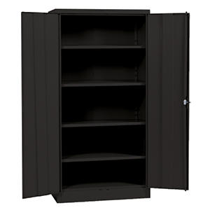"Sandusky Black Quick Assembly Steel Storage Cabinet - 36""W x 18""D x 72""H"