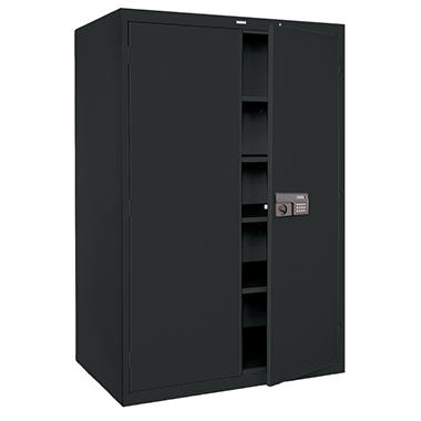 Quick Assembly Keyless Electronic Coded Steel Cabinet Black 48 W X 24 D X 78 In H Sam 39 S Club