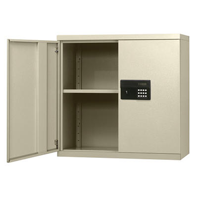 "Sandusky Keyless Electronic Putty Color Wall Cabinet - 30""W x 12""D x 30""H"