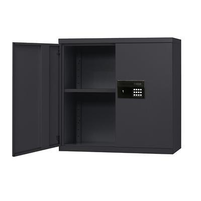 "Sandusky Keyless Electronic Wall Cabinet - Black - 30""W x 12""D x 30""H"