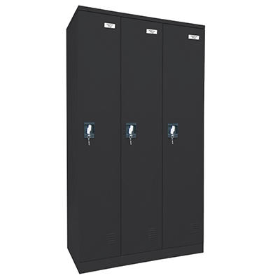 "Sandusky Quick Assembly Triple Wide Locker - Black - 72""H x 36""W x 18""D"