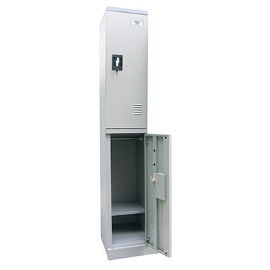 "Sandusky Quick Assembly Double Tier Locker - Dove Gray - 72""H x 12""W x18""D"