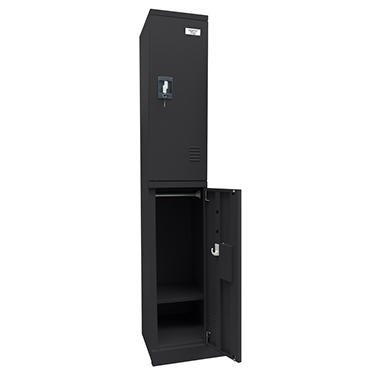 Sandusky Quick Assembly Double Tier Locker - Black - 72