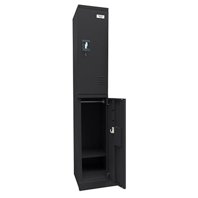"Sandusky Quick Assembly Double Tier Locker - Black - 72""H x 12""W x18""D"