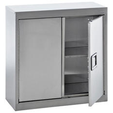"Sandusky Stainless Steel Paddle Lock Wall Storage Cabinet - 30""W x 12""D x 30""H"