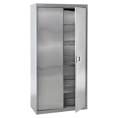 "Sandusky Stainless Steel Paddle Lock Storage Cabinet - 36""W x 18""D x 72""H"