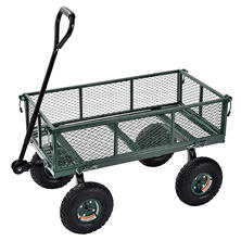 "Sandusky Heavy-Duty Steel Utility Crate Wagon - 34"" x 18"""