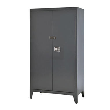 Sandusky Extra Heavy Duty 16-Gauge Steel Storage Cabinet - Charcoal - 46