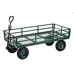 "Sandusky Heavy-Duty Steel XL Utility Crate Wagon - 60"" x 31"""