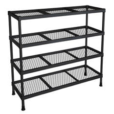 "Sandusky 4 Shelf Combination Wire Shelving Unit - Black - 31""W x 11""D x 31""H"