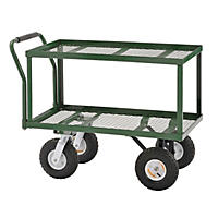 "Sandusky Heavy-Duty Steel 2-Tier Utility Wagon - 38"" x 20"""