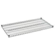 Sandusky 48 in. W x 24 in. D Steel Wire Shelf in Chrome
