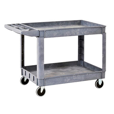 Sandusky 2-Shelf Plastic Utility Cart with 5