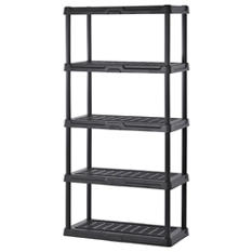 "Sandusky 5-Level Black Resin Shelving  (36""W x 18""H x 72""D)"