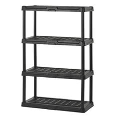 "Sandusky 4-Level Resin Shelving - Black (36"" x 18"" x 56"")"