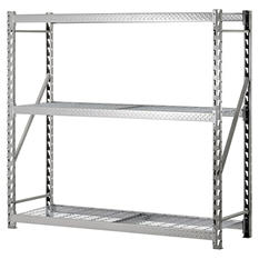 Heavy Duty 3-Shelf Welded Steel Threadplate Rack with Wire Shelves
