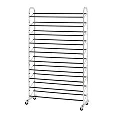 Muscle Rack 50-Pair Rolling Shoe Tower