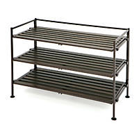 Seville Classics 3-Tier Resin Slat Utility/Shoe Rack