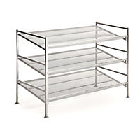 Seville Classics 3-Tier Mesh Multi-Position Shoe Rack