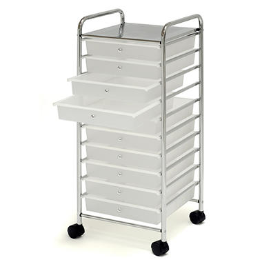 "10-Drawer Cart 13.9"" x 15.3"" Drawers"