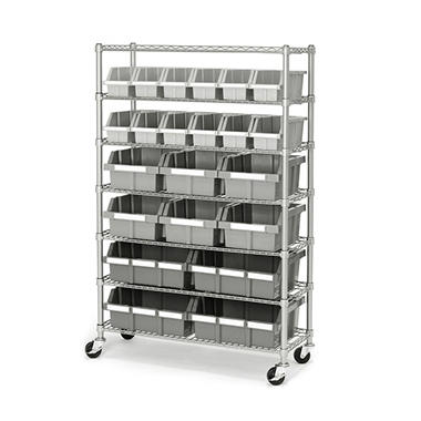 Commercial Bin Rack - 22 bins