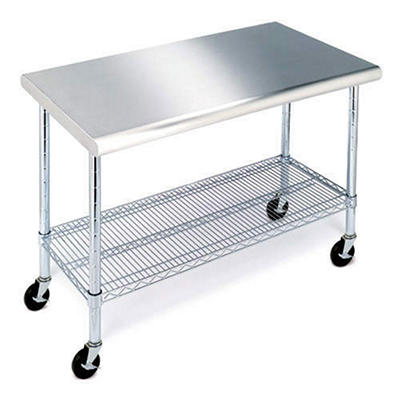 Work Table with Stainless Steel Top - 49""