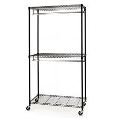 Seville Classics Closet/Room Garment Rack - Zippered Cover