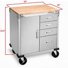 Seville Classics UltraHD 4-Drawer Rolling Cabinet