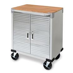 Seville Classics Ultra HD 2-Door Rolling Cabinet