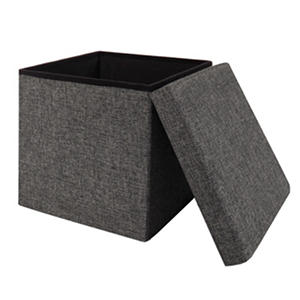 Seville Classics Foldable Storage Cube/Ottoman