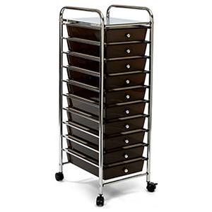 Seville 10 Drawer Cart - Available in Multi-Color, Clear and Black