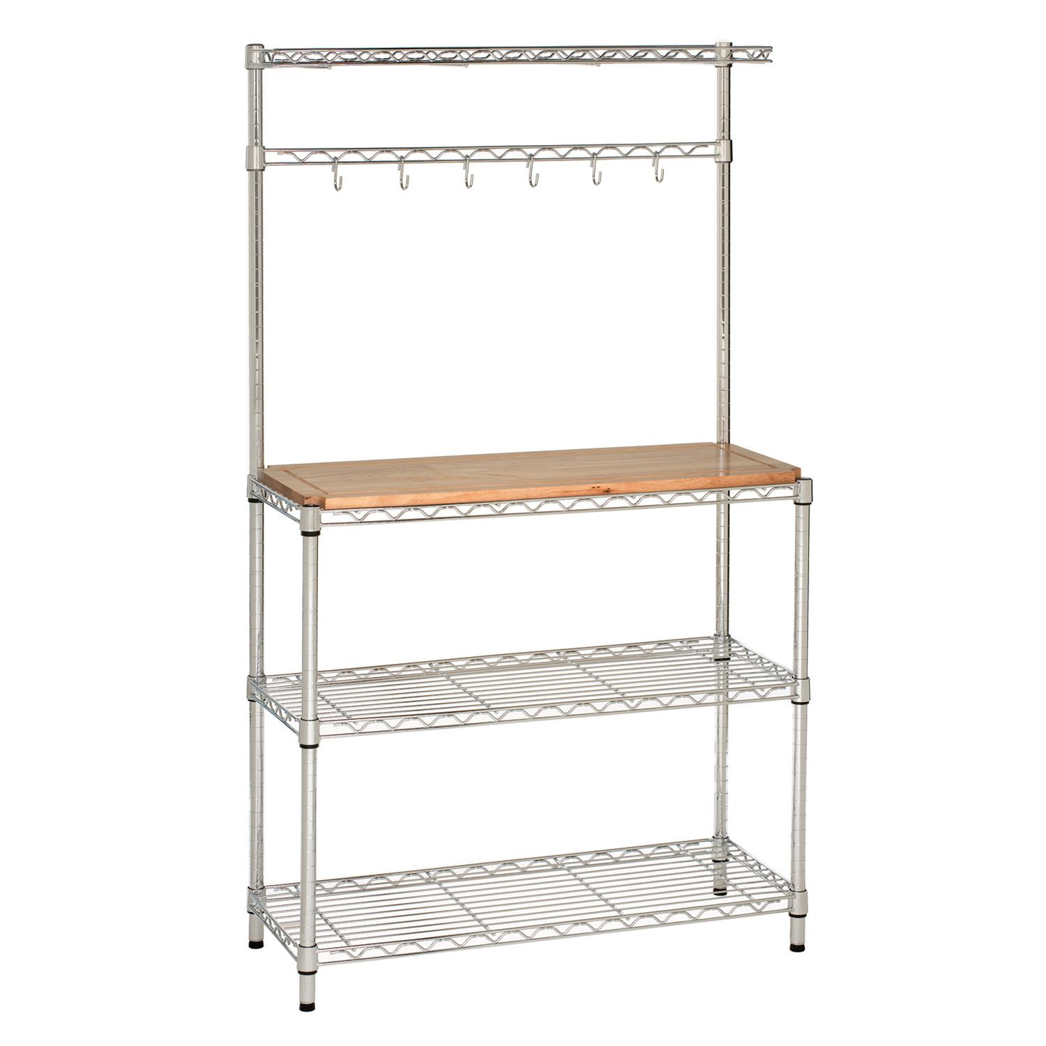 Seville Classics Baker's Rack Work Station Storage Counter Top Space 4 Shelves Adjustable Feet at Sears.com