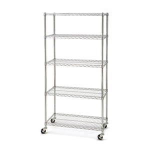 Seville Classics 5-Tier UltraZinc Commercial Shelving – 18 x 36 x 72 in. H