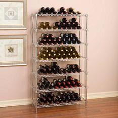 "Seville Classics UltraZinc 168 Bottle 7-Shelf Wine Rack (14"" x 36"" x 64"")"