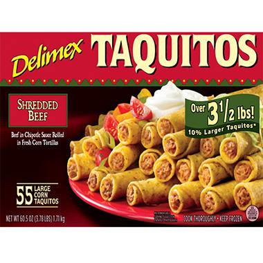 Delimex Beef Taquitos (55 ct.)