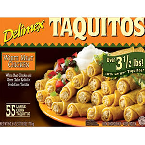 Delimex Chicken Taquitos - 55 ct.