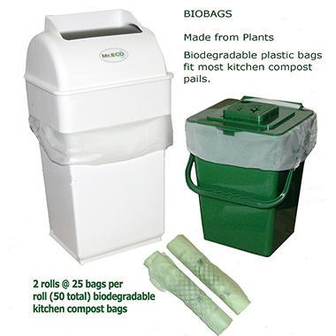 BioBags Compostable Plastic Bags - 50 Bags